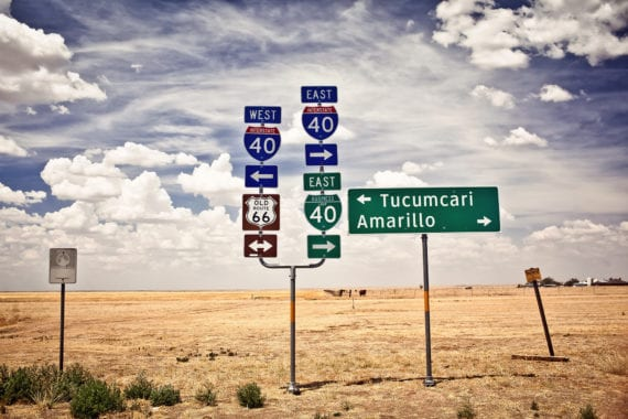 west texas road signs